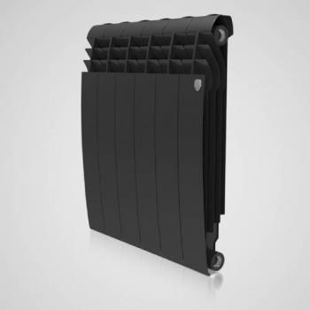 Радіатор опалення Royal Thermo BiLiner 500 - 6 секц. (чорний)